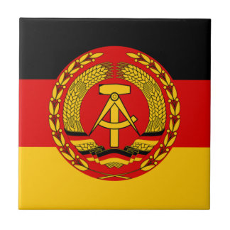 Flag of East Germany - Flagge der DDR (GDR) - NVA Tile