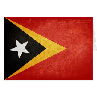 Flag of East Timor Card