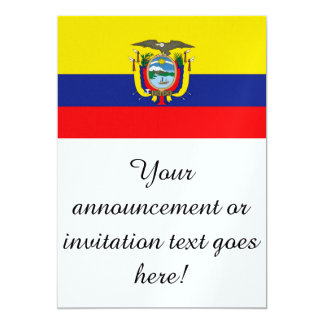 Flag of Ecuador Card