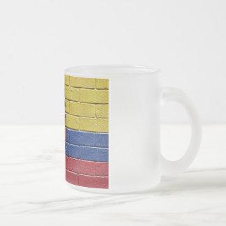 Flag of Ecuador Frosted Glass Coffee Mug