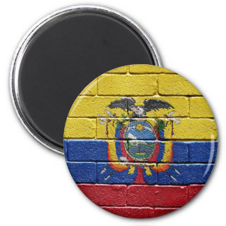 Flag of Ecuador 2 Inch Round Magnet