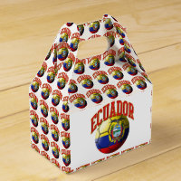 Flag of Ecuador Soccer Ball Favor Box