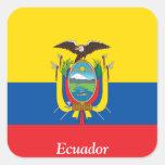 Flag of Ecuador Square Sticker