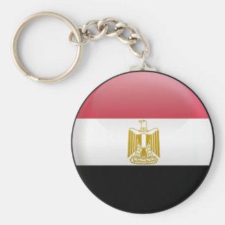 Flag of Egypt Basic Round Button Keychain