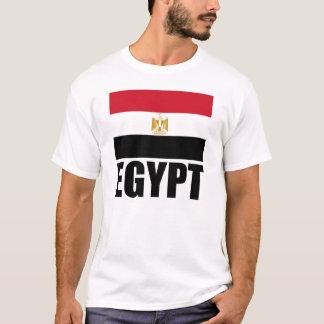Flag Of Egypt Black Text White T-Shirt