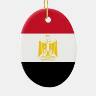 Flag of Egypt Christmas Tree Ornament