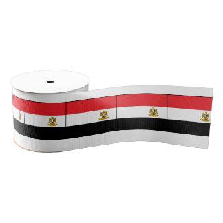 Flag of Egypt Eagle Red Black White Grosgrain Ribbon
