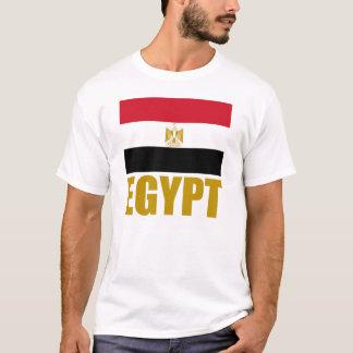 Flag Of Egypt Gold Text White T-Shirt