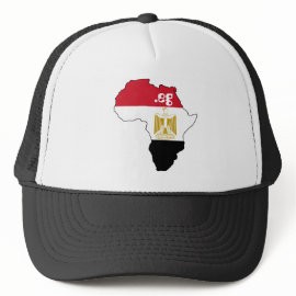 Flag of Egypt on Map of Africa Internet Hat hat