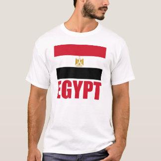 Flag Of Egypt Red Text White T-Shirt