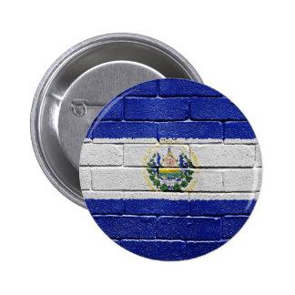 Flag of El Salvador 2 Inch Round Button