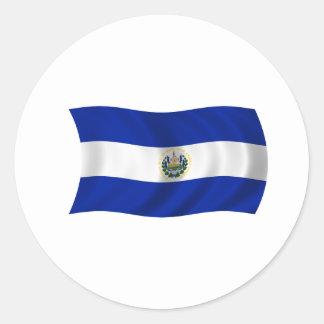 Flag of El Salvador Classic Round Sticker