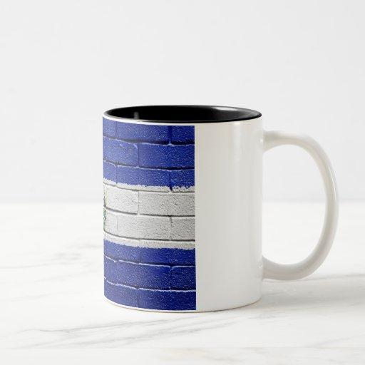 Flag of El Salvador Coffee Mugs