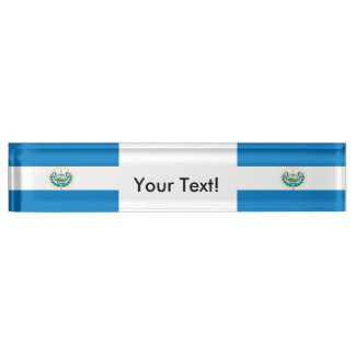 Flag of El Salvador Desk Name Plates