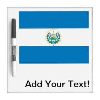 Flag of El Salvador Dry Erase Whiteboard