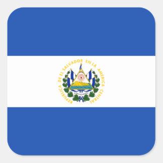 Flag of El Salvador Label