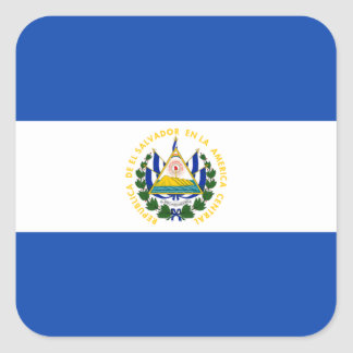 Flag of El Salvador Label Square Sticker