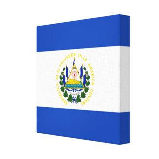 Flag of El Salvador, National Coat of Arms Canvas Print