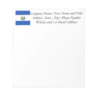 Flag of El Salvador, National Coat of Arms Notepad
