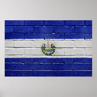 Flag of El Salvador Poster