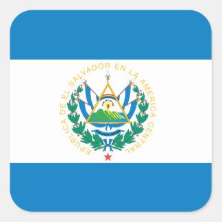 Flag of El Salvador Square Sticker