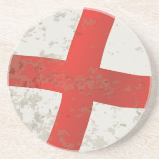 Flag of England and Saint George Grunge Coaster