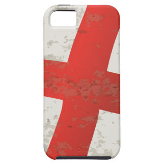 Flag of England and Saint George Grunge iPhone SE/5/5s Case