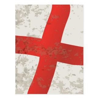 Flag of England and Saint George Grunge Postcard