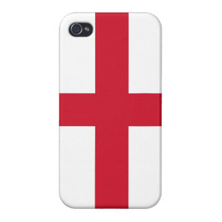 Flag of England Cross on White iPhone 4 Case