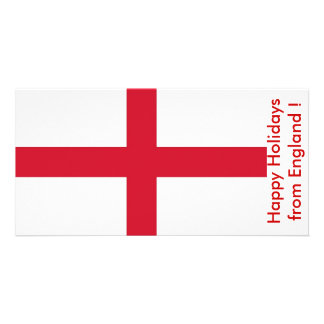 Flag of England Happy Holidays from U K Photo Greeting Card