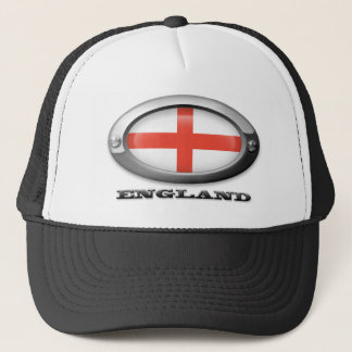 Flag of England in Steel Frame Trucker Hat