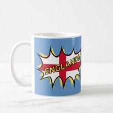 """Flag of England """"KAPOW"""" star Mug"""