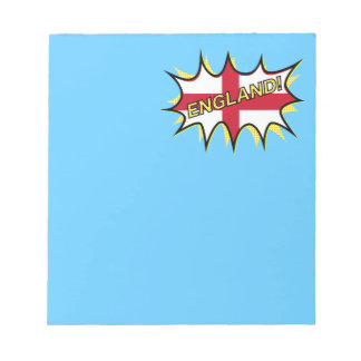 Flag of England KAPOW star Scratch Pads