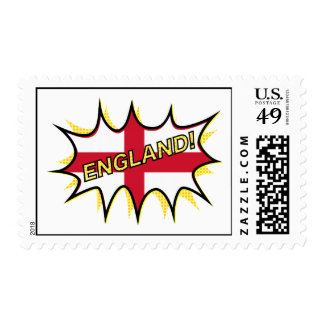 "Flag of England ""KAPOW"" star Postage"