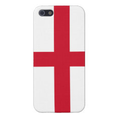 Flag of England Red Cross on White iPhone 5 Case at Zazzle