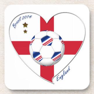 Flag of ENGLAND SOCCER of national team 2014 Beverage Coaster