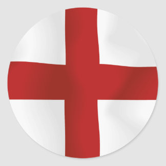 Flag Of England Round Stickers