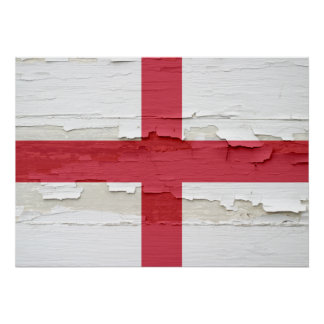 Flag of England Weathered Poster