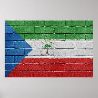Flag of Equatorial Guinea Poster