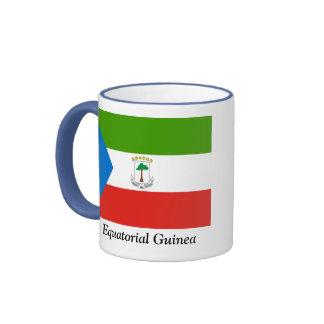 Flag of Equatorial Guinea Ringer Coffee Mug