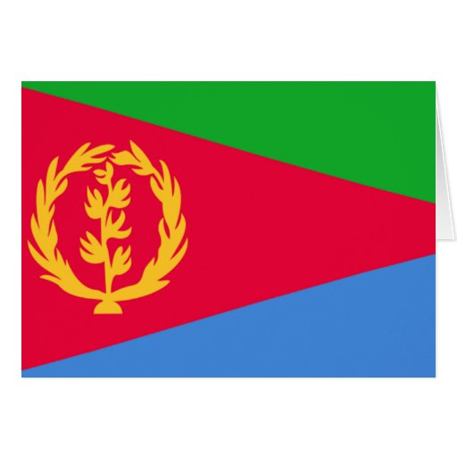Flag of Eritrea Greeting Cards