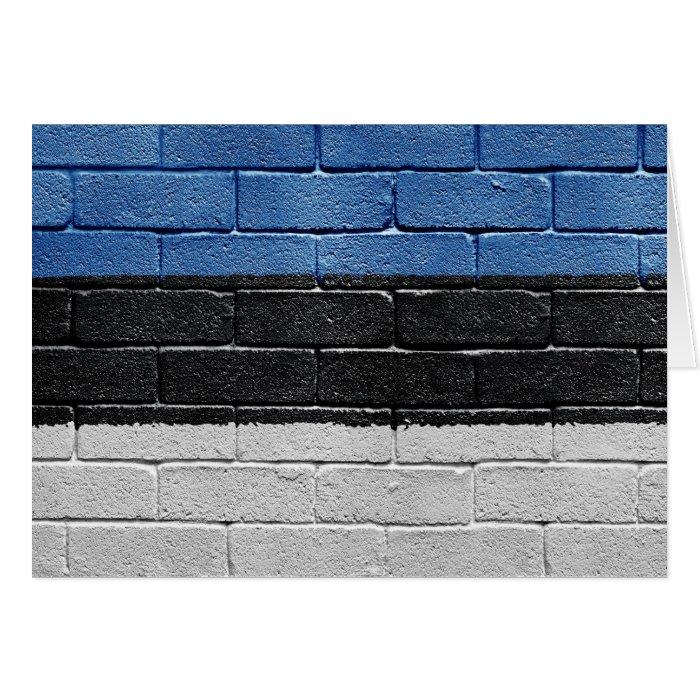 Flag of Estonia Card