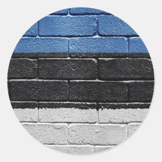 Flag of Estonia Classic Round Sticker