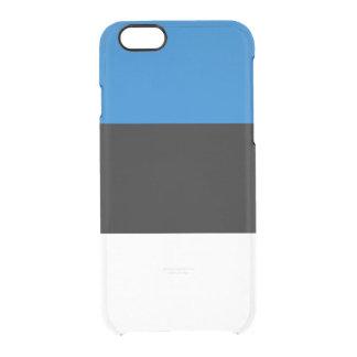 Flag of Estonia Clear iPhone Case