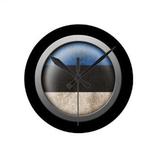 Flag of Estonia Disc Round Wallclocks