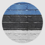 Flag of Estonia Round Sticker