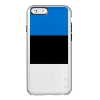 Flag of Estonia Silver iPhone Case