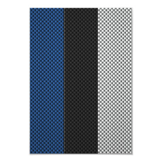Flag of Estonia with Carbon Fiber Effect Card