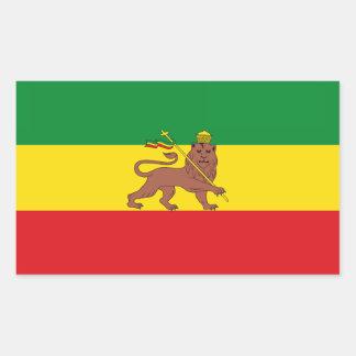 Flag_of_Ethiopia_(1897-1936;_1941-1974).png Rectangular Sticker