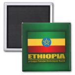 Flag of Ethiopia 2 Inch Square Magnet